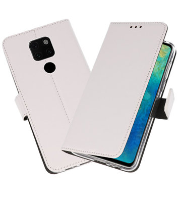 Wallet Cases Hoesje voor Huawei Mate 20 Wit