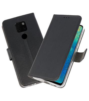 Wallet Cases Hoesje voor Huawei Mate 20 Zwart