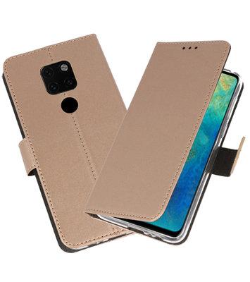 Wallet Cases Hoesje voor Huawei Mate 20 Goud