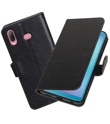 Hoesje voor Samsung Galaxy A6s Pull-Up Booktype Zwart