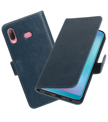 Hoesje voor Samsung Galaxy A6s Pull-Up Booktype Blauw