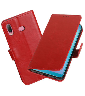 Hoesje voor Samsung Galaxy A6s Pull-Up Booktype Rood
