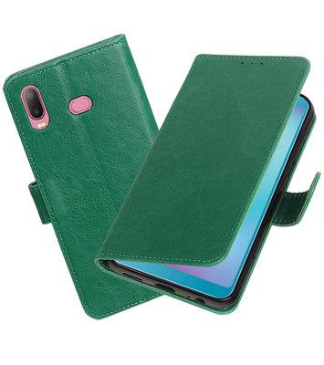 Hoesje voor Samsung Galaxy A6s Pull-Up Booktype Groen