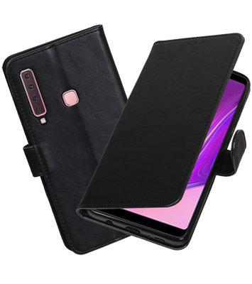 Hoesje voor Samsung Galaxy A9 2018 Pull-Up Booktype Zwart
