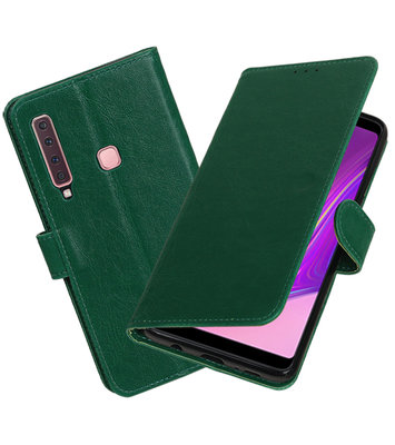 Hoesje voor Samsung Galaxy A9 2018 Pull-Up Booktype Groen