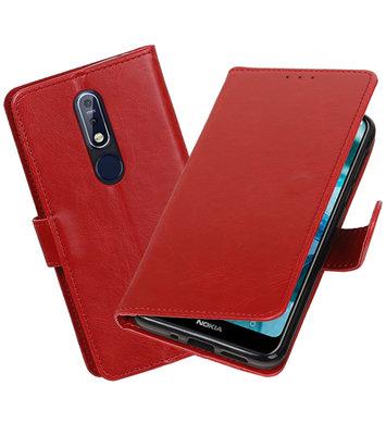Hoesje voor Nokia 7.1 Pull-Up Booktype Rood