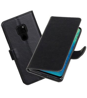 Hoesje voor Huawei Mate 20 Pull-Up Booktype Zwart