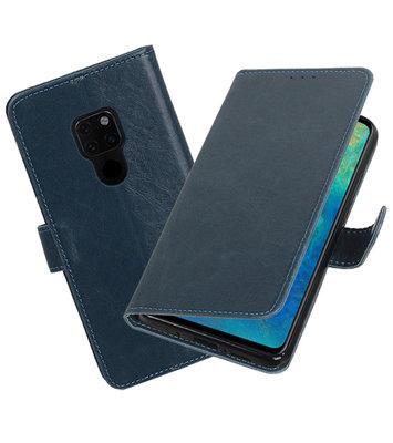 Hoesje voor Huawei Mate 20 Pull-Up Booktype Blauw
