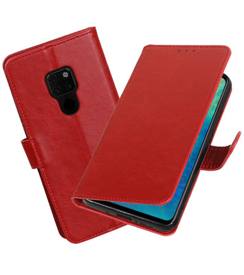 Hoesje voor Huawei Mate 20 Pull-Up Booktype Rood