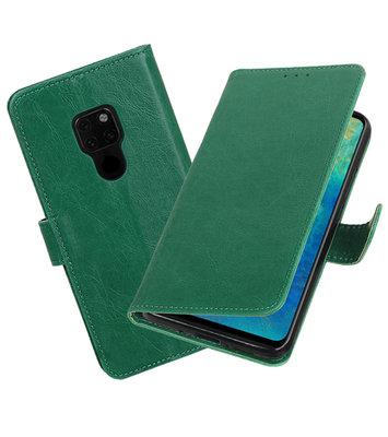 Hoesje voor Huawei Mate 20 Pull-Up Booktype Groen