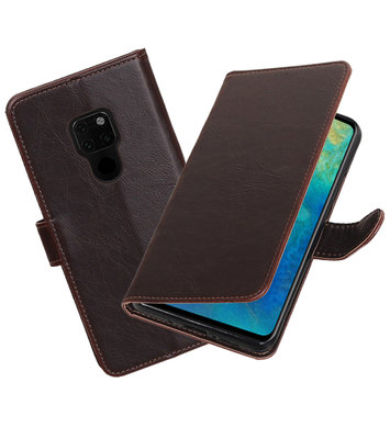 Hoesje voor Huawei Mate 20 Pull-Up Booktype Mocca