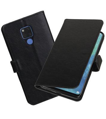 Hoesje voor Huawei Mate 20 X Pull-Up Booktype Zwart