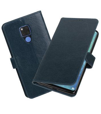 Hoesje voor Huawei Mate 20 X Pull-Up Booktype Blauw