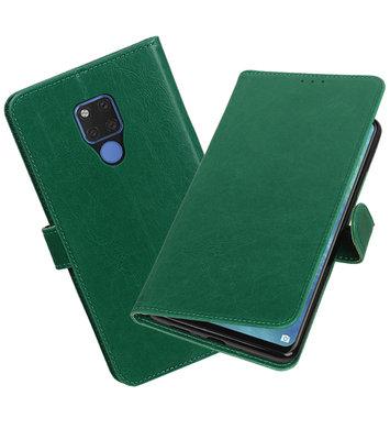 Hoesje voor Huawei Mate 20 X Pull-Up Booktype Groen
