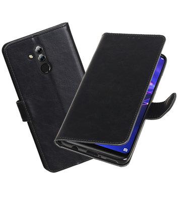 Hoesje voor Huawei Mate 20 Lite Pull-Up Booktype Zwart