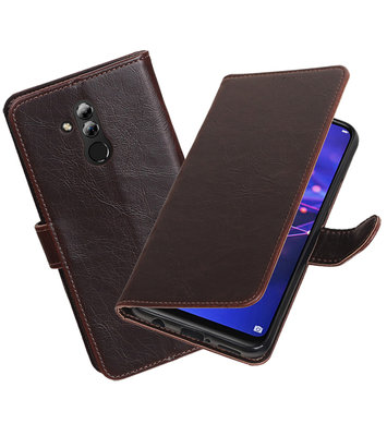 Hoesje voor Huawei Mate 20 Lite Pull-Up Booktype Mocca