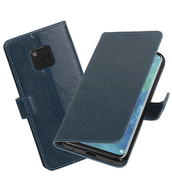 Hoesje voor Huawei Mate 20 Pro Pull-Up Booktype Blauw