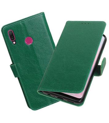 Hoesje voor Huawei Y9 2019 Pull-Up Booktype Groen