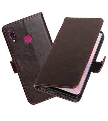 Hoesje voor Huawei Y9 2019 Pull-Up Booktype Mocca