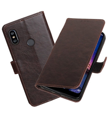 Hoesje voor XiaoMi Redmi Note 6 Pro Pull-Up Booktype Mocca