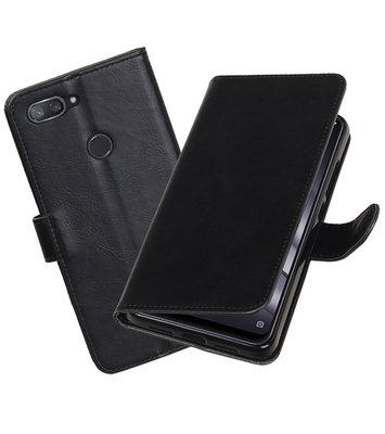 Hoesje voor XiaoMi Mi 8 Lite Pull-Up Booktype Zwart