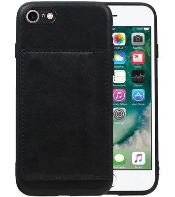 Staand Back Cover 1 Pasjes voor iPhone 8 / 7 Zwart