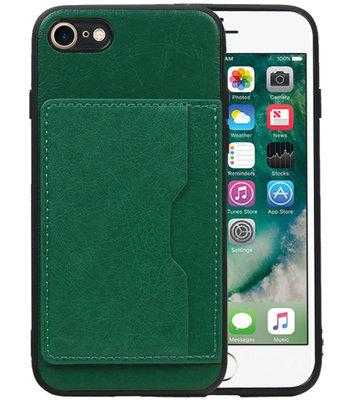 Staand Back Cover 1 Pasjes voor iPhone 8 / 7 Groen