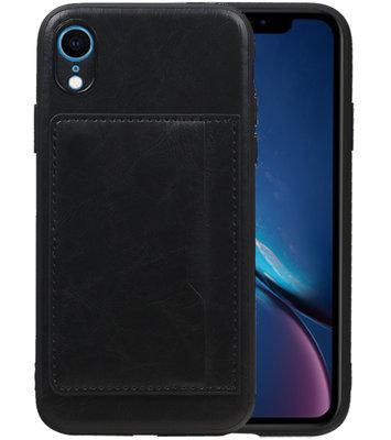 Staand Back Cover 1 Pasjes voor iPhone XR Zwart