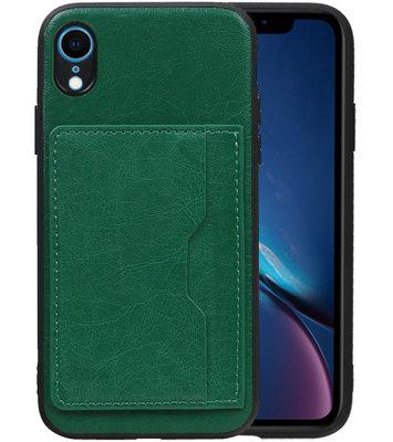 Staand Back Cover 1 Pasjes voor iPhone XR Groen