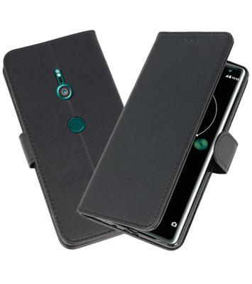 Wallet Cases Hoesje voor Xperia XZ3 Zwart