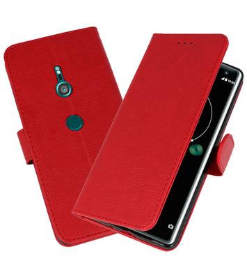 Wallet Cases Hoesje voor Xperia XZ3 Rood