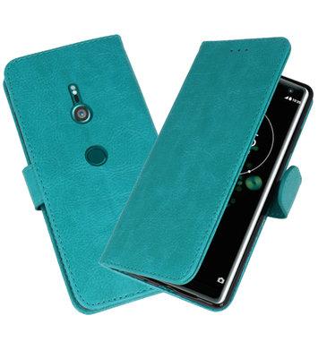 Wallet Cases Hoesje voor Xperia XZ3 Groen