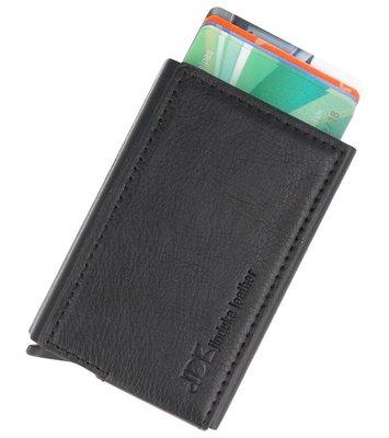 Uitschuifbare kaarthouder portemonnee Zwart