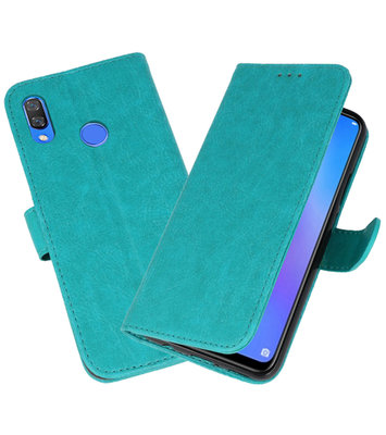 Bookstyle Wallet Cases Hoes voor Huawei P Smart 2019 Groen