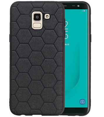 Hexagon Hard Case voor Samsung Galaxy J6 Zwart