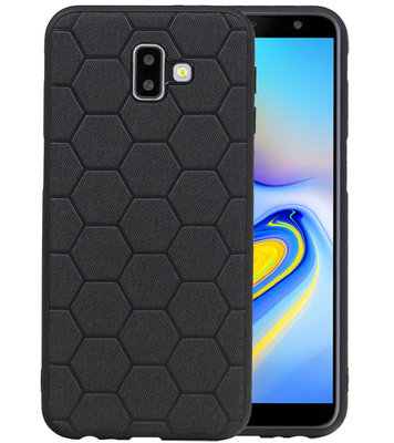 Hexagon Hard Case voor Samsung Galaxy J6 Plus Zwart