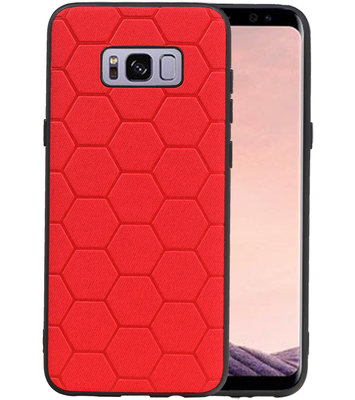 Hexagon Hard Case voor Samsung Galaxy S8 Plus Rood