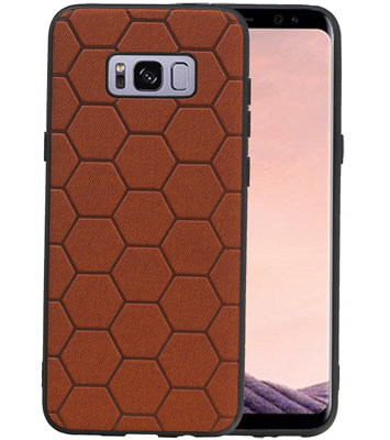 Hexagon Hard Case voor Samsung Galaxy S8 Plus Bruin