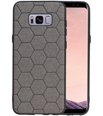 Hexagon Hard Case voor Samsung Galaxy S8 Plus Grijs
