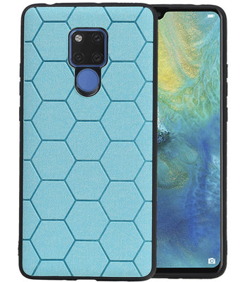 Hexagon Hard Case voor Huawei Mate 20 X Blauw