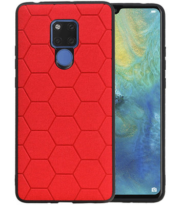 Hexagon Hard Case voor Huawei Mate 20 X Rood