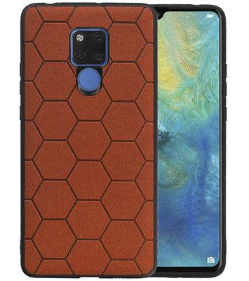 Hexagon Hard Case voor Huawei Mate 20 X Bruin