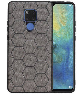 Hexagon Hard Case voor Huawei Mate 20 X Grijs