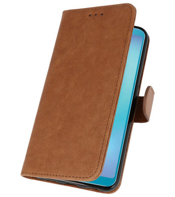 Bookstyle Wallet Cases Hoes voor Honor View 20 Bruin