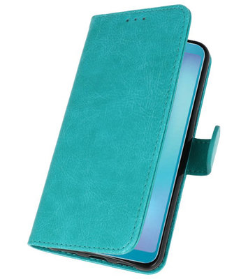 Bookstyle Wallet Cases Hoesje voor Samsung Galaxy A8s Groen