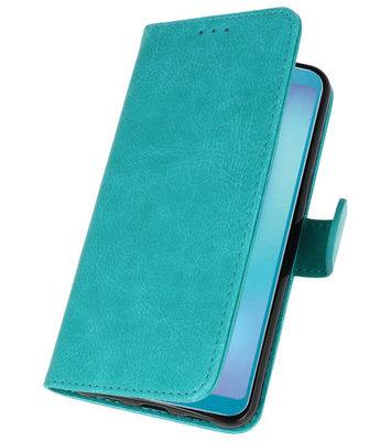 Bookstyle Wallet Cases Hoesje voor Samsung Galaxy A8s Groen