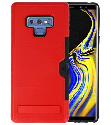 Rood Tough Armor Kaarthouder Stand Hoesje voor Samsung Note 9