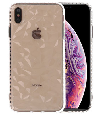 Transparant Geometric Style Siliconen Hoesjes voor iPhone XS Max