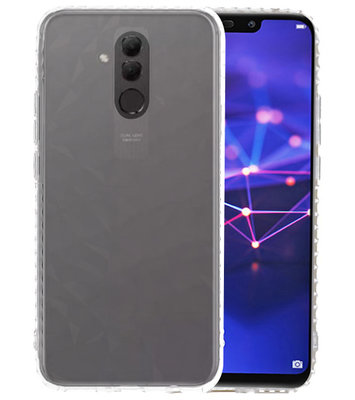 Transparant Geometric Style Siliconen Hoesjes voor Huawei Mate 20 Lite