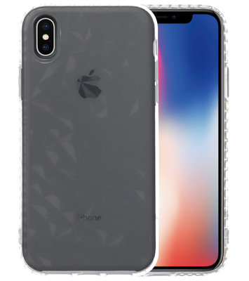 Transparant Geometric Style Siliconen Hoesjes voor iPhone XS